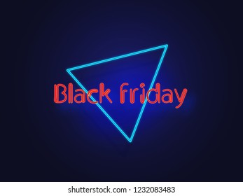 Neon Black friday illustration with amazing colors