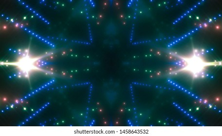 Neon blue lights background. Illustration digital.