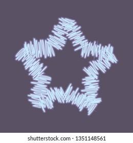 Neon esquisse star, llight sketch graphic ornament
