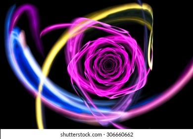 Neon Rose Images Stock Photos Vectors Shutterstock