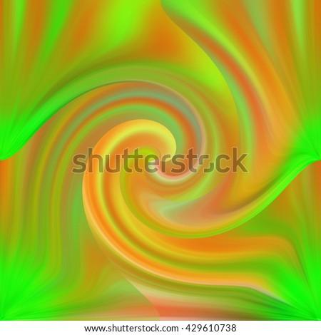 neon green orange pink yellow wavy stock illustration 429610738