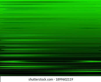 Neon green thin lines horizontal arranged on a black background