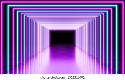neon light abstract background, 3d rendering image