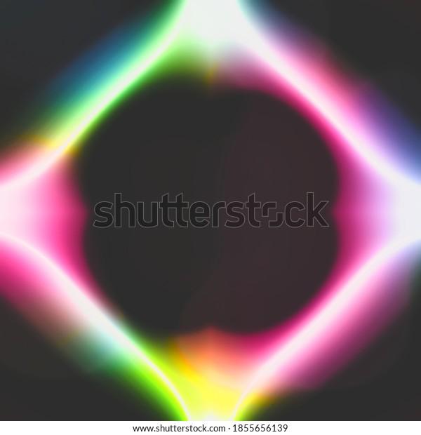 Neon light bulb art colorful illustration background