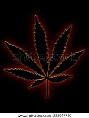 Royalty Free Stock Illustration Of Neon Marijuana Leaf Stock