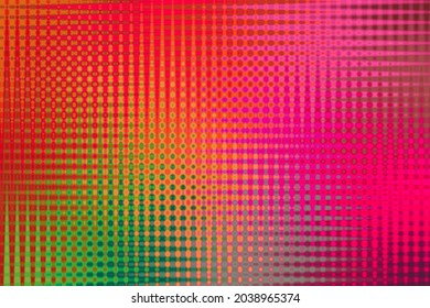 Neon paint patterns with abstract artistic deformations