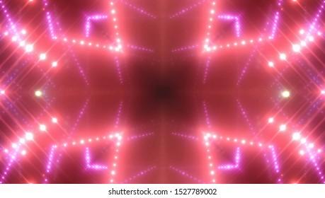 Neon red lights background. Illustration digital.