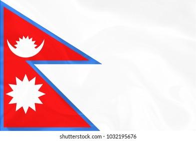 Nepal Fabric flag background
