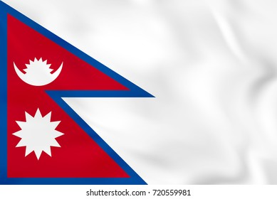 Nepal waving flag. Nepal national flag background texture. Raster copy.