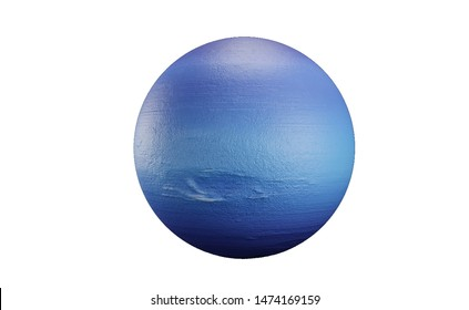Neptune in the solar system the Milky Way on a white background.3d rendering.Neptune is the eighth and farthest known planet from the sun in the solar system.It is the fourth largest planet by diamet.