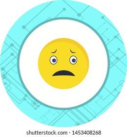 Nervous Emoticon Images, Stock Photos & Vectors   Shutterstock