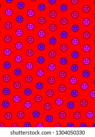 Net decoration. Flat texture. Throng comprising smart smileys.