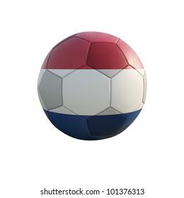 netherland soccer ball isolated on white