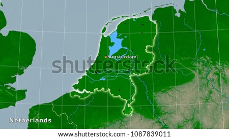 Netherlands Topographic Map.Royalty Free Stock Illustration Of Netherlands Area On Topographic