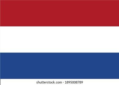 Netherlands flag official proportions flat