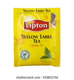NETHERLANDS - LEIDSCHENDAM - CIRCA OCTOBER 2015: Lipton yellow label tea.