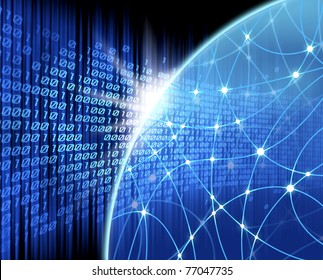 network blue background