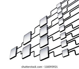 network flowchart graph management on white