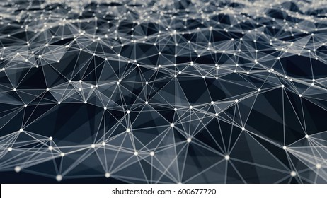 network low poly background