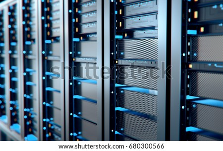 network server room computers digital tvのイラスト素材 680300566