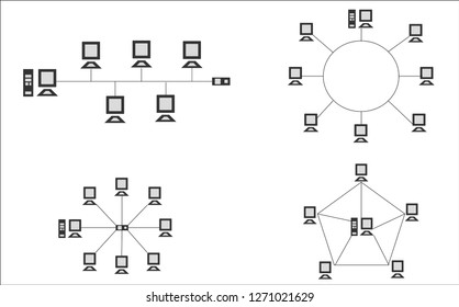 Network Topology Internet Connection Illustration