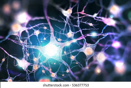 Neural network Human nervous system (3D illustration)
