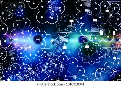 Neuromorphing Computing - Futuristic Technology - Abstract Illustration