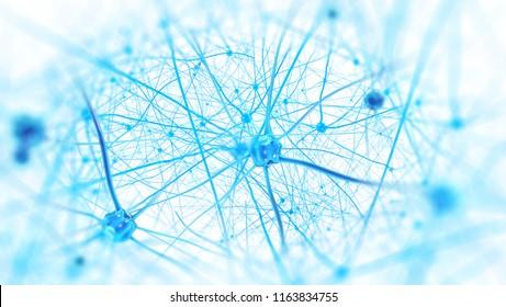 Neurons and nervous system (3d illustration)