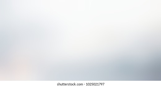 Neutral ombre white grey banner. Smoky abstract texture. Glare metallic empty background. Silver defocused template.