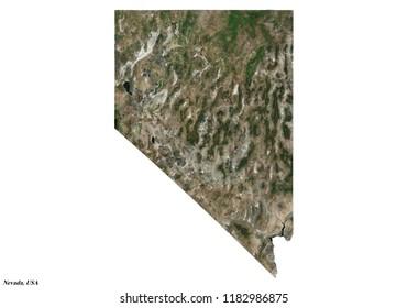 Nevada Map (3D rendering)