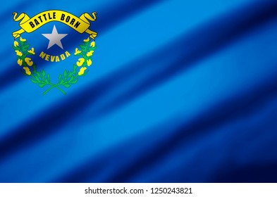 Nevada modern and realistic closeup 3D flag illustration. Perfect for background or texture purposes.