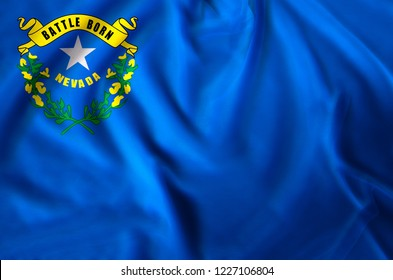 Nevada modern and realistic closeup flag illustration. Perfect for background or texture purposes.