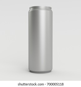 New 330ml 3D Render Isolated Silver Soda Can