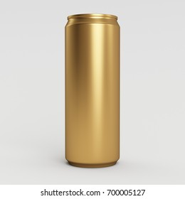 New 330ml 3D Render Isolated Gold Soda Can