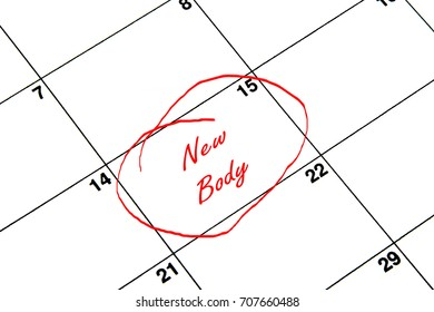 New Body Circled on A Calendar in Red