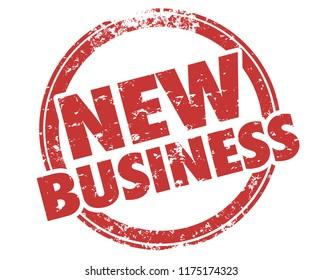 New Business Customer Prospect Lead Stamp Illustration