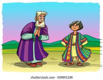 New colored clothes of Joseph