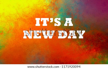 New Day Quote Saying White Letters Stock Illustration 1171920094
