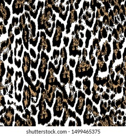 New Digital print design.Leopard pattern and random colors.
