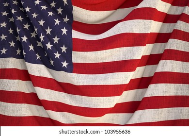 new fabric us flag - close up