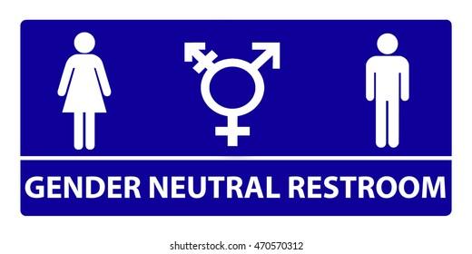 New gender neutral bathroom sign design
