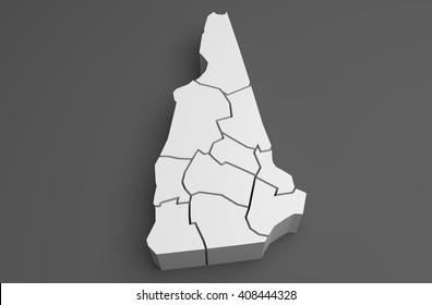 New Hampshire - 3D Illustration