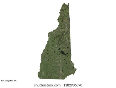New Hampshire Map (3D rendering)