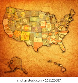 new hampshire on old vintage map of usa with state borders