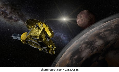 New Horizons is intended to fly within 10,000 km (6,200 mi) of Pluto with a relative velocity of 49,600 km/h; 30,800 mph at closest approach, and will come as close as 27,000 km (17,000 mi) to Charon.
