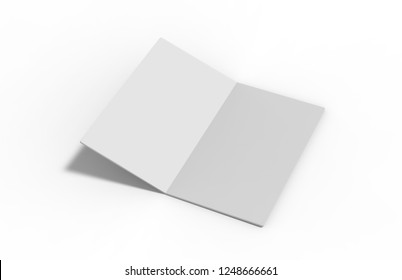 New invitation and greeting card mock up on isolated white background, 3d illustration