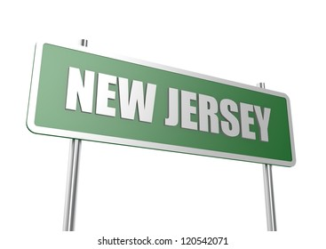 New Jersey sign board