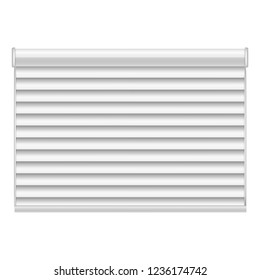 New louver mockup. Realistic illustration of new louver mockup for web design isolated on white background