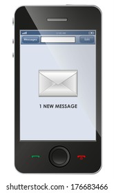 New message icon on smart phone