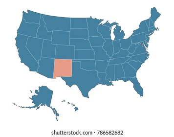 New Mexico state - Map of USA